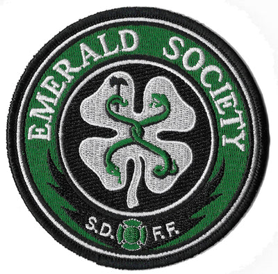 San Diego Firefighters Emerald Society Round Patch