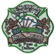 San Diego Firefighters Pipes & Drums Emerald Society Patch