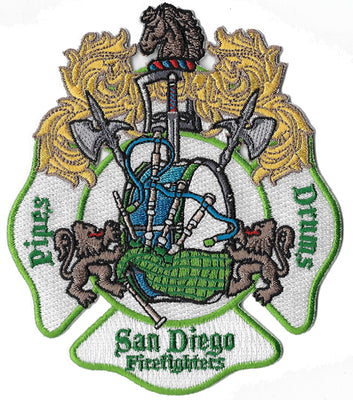 San Diego Pipes & Drums Unique Design Patch