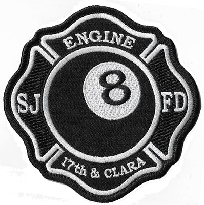 San Jose, CA Station Engine 8 - 17th & Clara Fire Patch