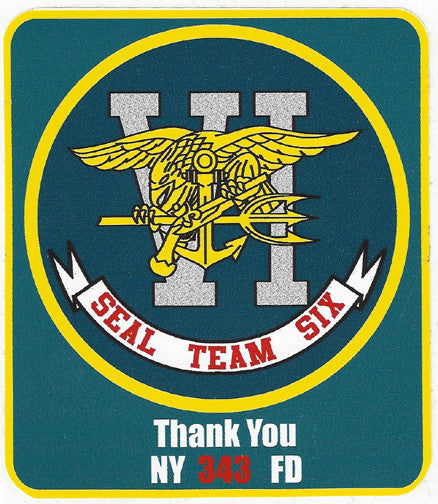 "Seal Team Six 4"" Vinyl Decal"