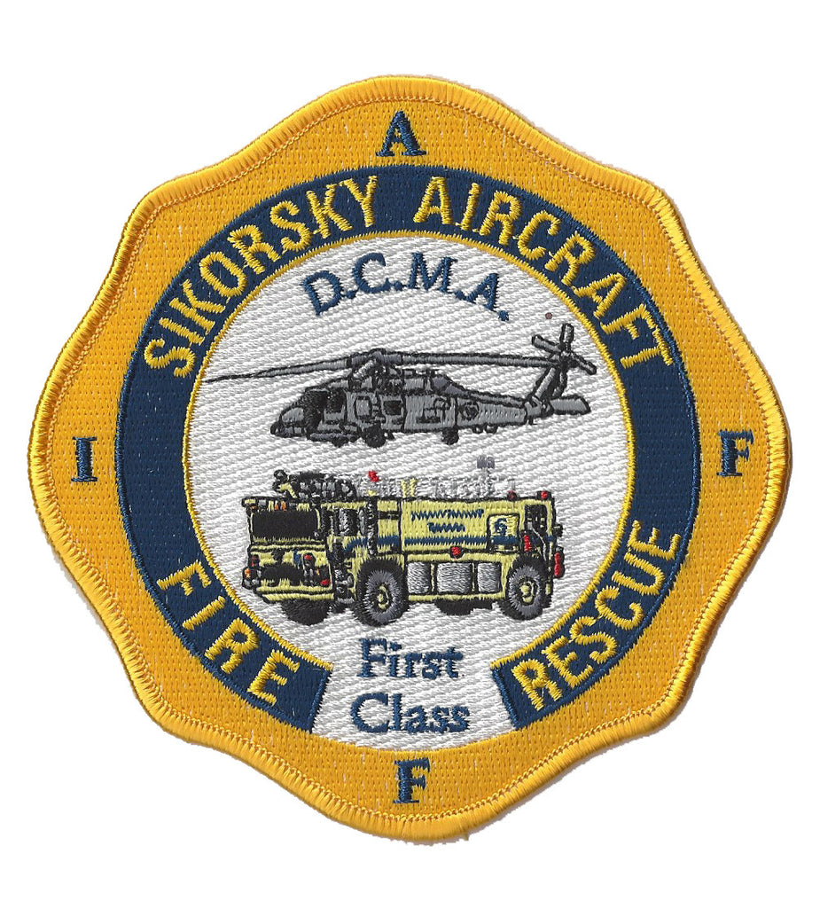 Sikorsky Aircraft Fire Rescue Stratford, CT IAFF Fire Patch