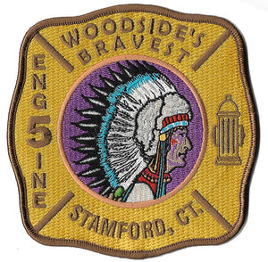 Stamford, CT Engine 5 Woodside Indian Design Fire Patch