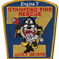 "Stamford, CT Engine 7 ""Lucky Sevens"" Patch"