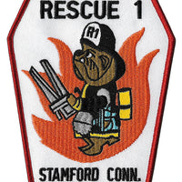 Stamford, CT Rescue 1 Bulldog Patch