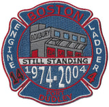 "Boston Engine 14 Ladder 4 1974-2004 ""Still Standing"" Patch"