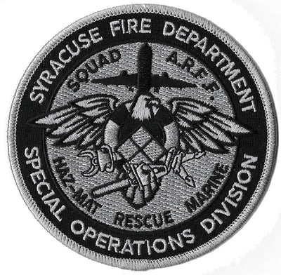 Syracuse, NY Specail Operations Haz Mat Rescue Marine Fire Patch