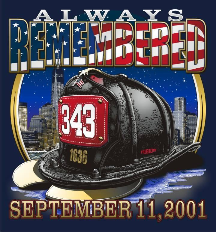 NEW YORK'S 9-11-01 HELMET MEMORIAL  Navy Tee