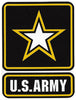 "U. S. Army 4"" Star Logo Vinyl Decal"