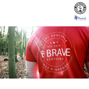 B Brave - Back Print - Mens Fitted Tee