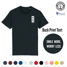 Load image into Gallery viewer, Unisex - Smile more, Worry less- Back Print Tee