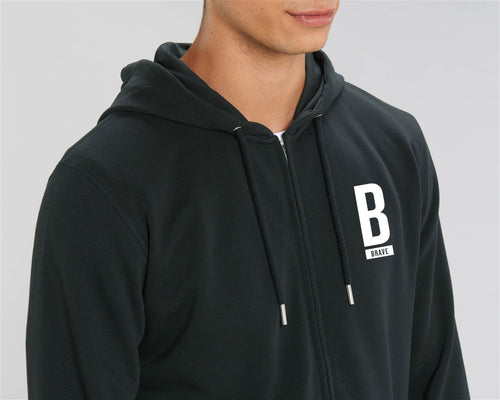 Connector Zip up Hoodie - Unisex B Brave