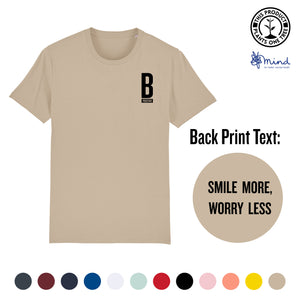 Unisex - Smile more, Worry less- Back Print Tee