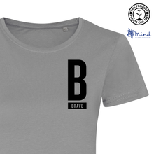 Load image into Gallery viewer, Brave Minimal Tee - Ladies Fitted Tee