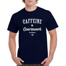 Load image into Gallery viewer, Caffeine & Coursework - Mens Tee