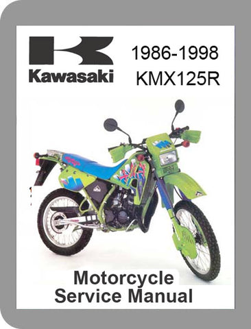 1986 to 1999 Kawasaki KMX 125 R Full Service Manual