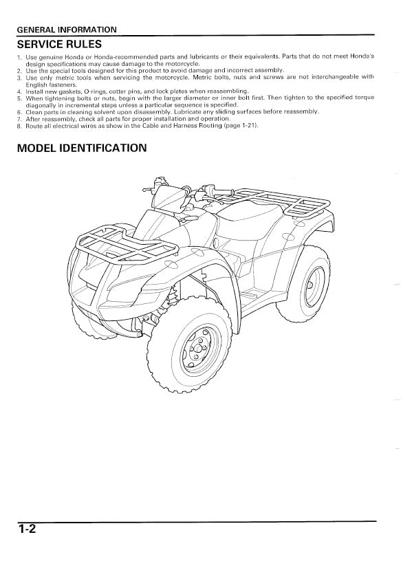 Full Service Manual for Honda ATV TRX650FA Years 2003 to