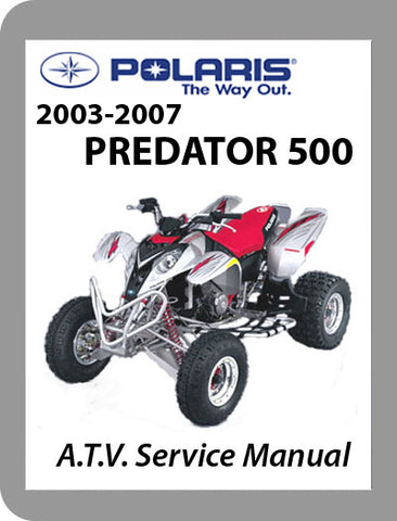 2003 to 2007 Polaris Predator 500 Full Service Manual