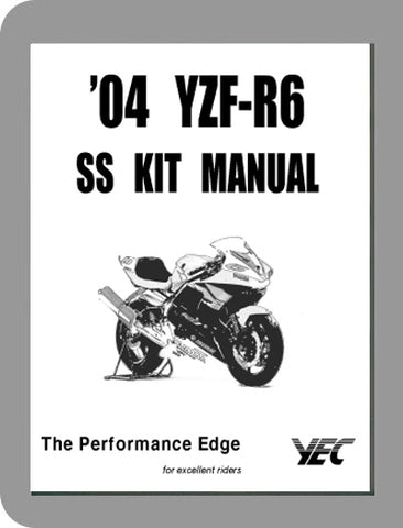 2003 to 2004 Yamaha YZF R6 Race Kit Setup Manual