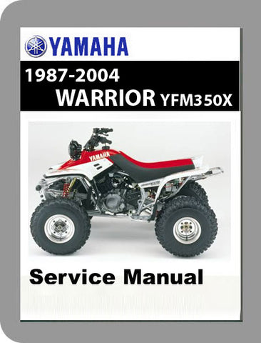 1987 to 2004 Yamaha YFM350 Warrior Full Service Manual