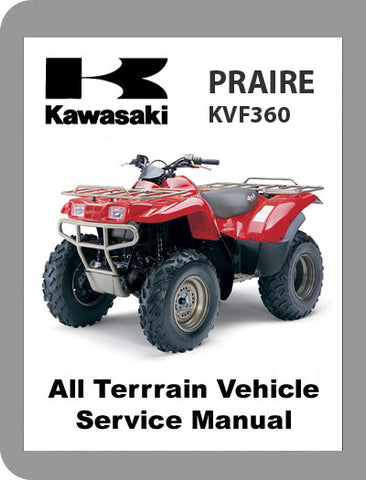 2002 to 2005 Kawasaki KVF360 Prairie Full Service Manual