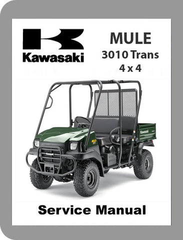 2005 to 2008 Kawasaki Mule 3010 Full Service Manual