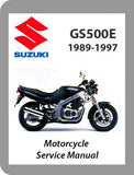 1989 to 1997 Suzuki GS500E Full Service Manual