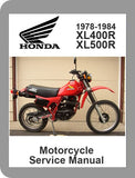 1978 to 1984 Honda XL400 / XL500 Full Service Manual