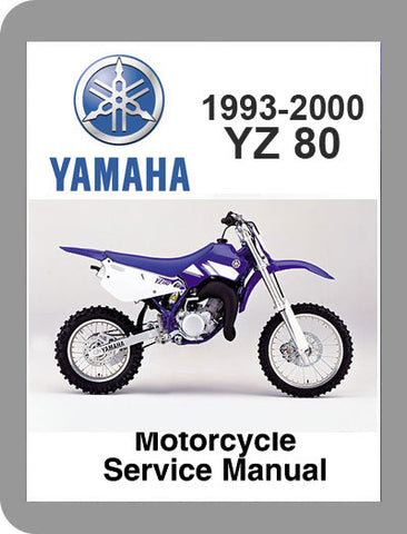 1993 to 2000 Yamaha YZ80 Full Service Manual
