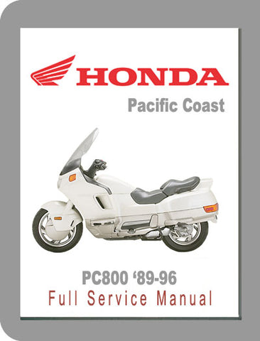 1989 to 1996 Honda PC800 Pacific Coast Full Service Manual