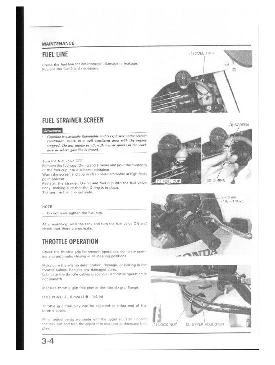 Full Service Manual for Honda Motorcycle NX 250 Years 1970
