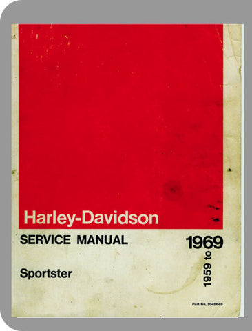 1959 to 1969 Harley-Davidson Sportster Full Service Manual