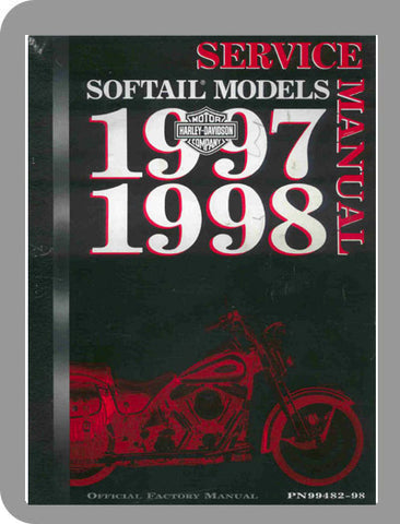 1997 to 1998 Harley-Davidson Softail Models Full Service Manual