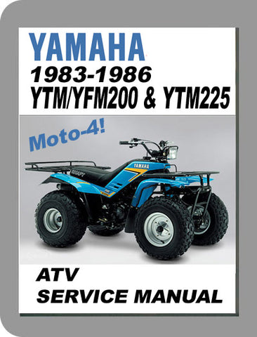 1983 to 1986 Yamaha YTM/YFM200 / YTM225 Full Service Manual