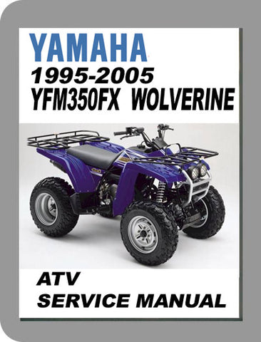 1995 to 2005 Yamaha YFM350FX Wolverine Full Service Manual