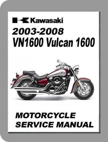 2003 to 2008 Kawasaki Vulcan 1600 Full Service Manual