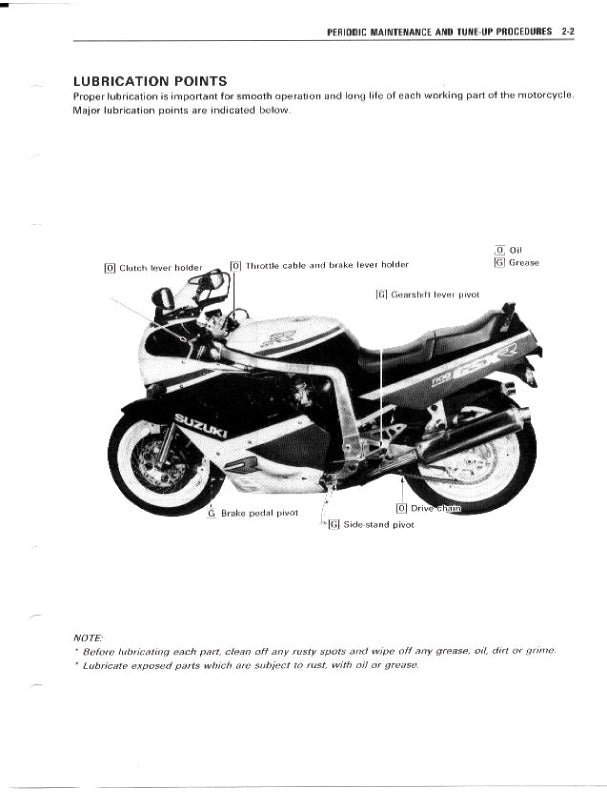 Full Service Manual for Suzuki Motorcycle GSX-R 1100 Years