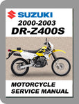 2003 Suzuki DRZ400S Full Service Manual