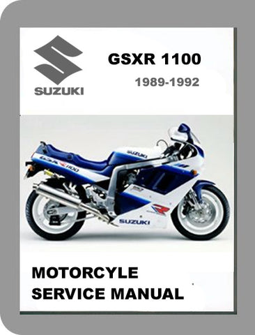 1989 to 1992 Suzuki GSX-R 1100 Full Service Manual