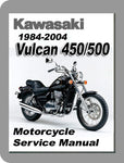 1985 to 2004 Kawasaki Vulcan 450/500 Full Service Manual