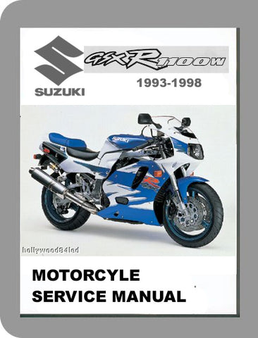 1993 to 1998 Suzuki GSX-R 1100 Full Service Manual