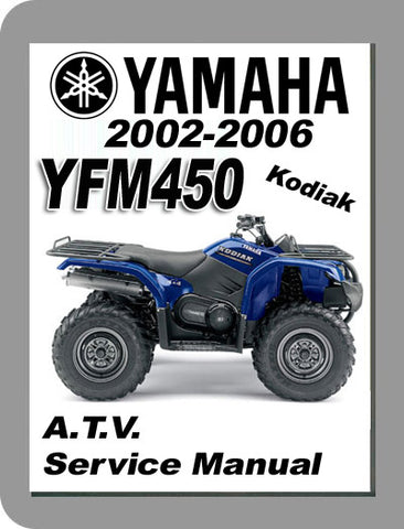 2002 to 2006 Yamaha YFM450 Full Service Manual