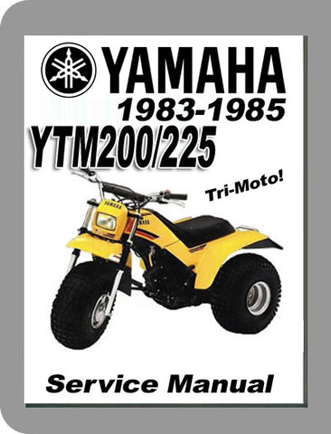 1983 to 1985 Yamaha YTM225 Full Service Manual