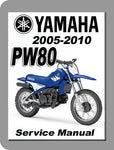 2005 to 2010 Yamaha PW80 Full Service Manual