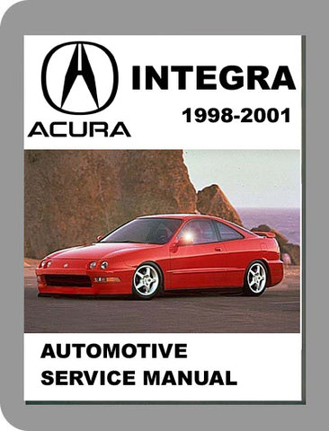 1998 to 2001 Acura Integra Full Service Manual