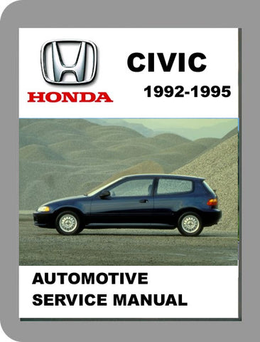 1992 to 1995 Honda Civic Full Service Manual