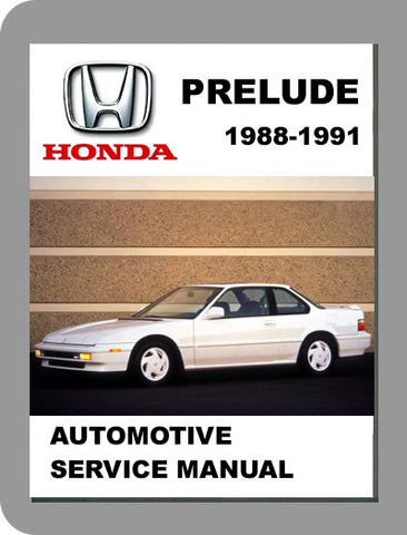 1988 to 1991 Honda Prelude Full Service Manual