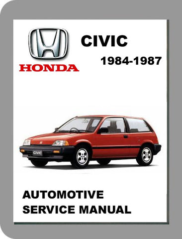 1984 to 1987 Honda Civic Full Service Manual