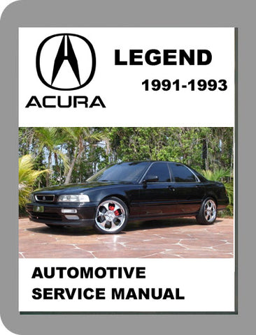 1991 to 1993 Acura Legend Full Service Manual