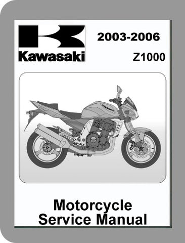 2003 to 2006 Kawasaki Z1000 Full Service Manual